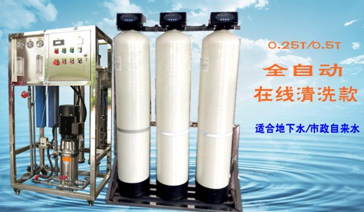 0.25-0.5T自动贝博平台水处理设备在线清洗款